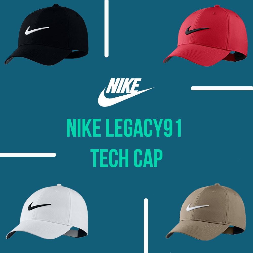 나이키 레거시 91 테크캡(5종) 모자, 화이트/블랙