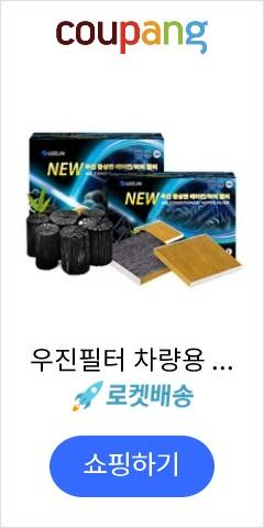 우진필터 차량용 뉴우진 야자 활성탄 에어컨 히터 필터 YB, d08, 2개입