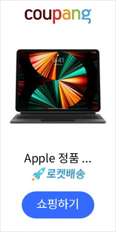 Apple 정품 매직 키보드 iPad Pro 12.9 5세대, 블랙, 한국어