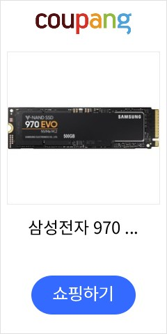삼성전자 970 EVO 500GB NVMe PCIe M.2 2280 SSD, MZ-V7E500BW