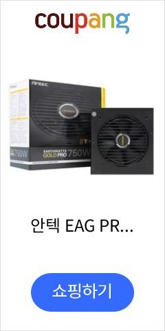 안텍 EAG PRO 750W 80PLUS GOLD 모듈러 AONE ATX EA750G PRO
