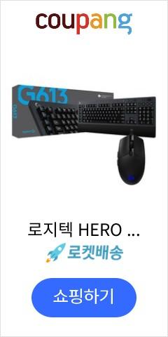 로지텍 HERO 게이밍 마우스 G PRO + LIGHTSPEED 무선 기계식 게이밍키보드 G613, 2종, 1세트