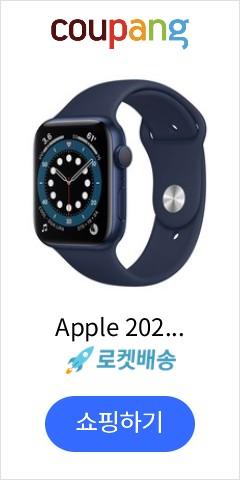 Apple 2020년 애플워치 6 GPS 44mm 레귤러, 블루 알루미늄(케이스), 딥네이비(스포츠 밴드)