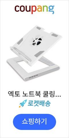 엑토 노트북 쿨링 스탠드 앤 4포트 허브, 화이트, 1개