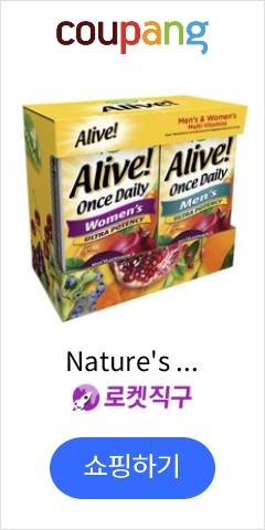 Nature's Way 얼라이브! 원스 데일리 울트라 포텐시 멀티 비타민 타블렛 2종 세트, 120개입, 1개