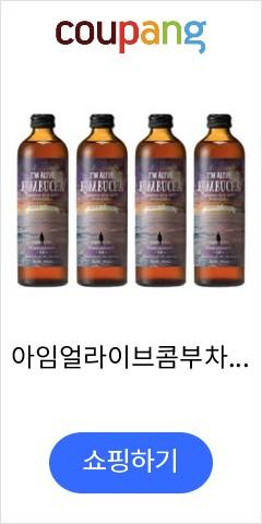 아임얼라이브콤부차 유기농 탄산음료 석류, 315ml, 4개