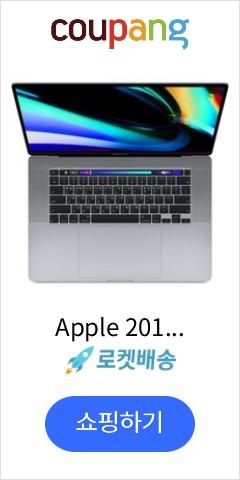 Apple 2019년 맥북 프로 터치바 16 16GB, 스페이스 그레이, i7-2.6GHz 6-core, SSD 512GB, 단품