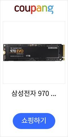 삼성전자 970 EVO 1TB NVMe PCIe M.2 2280 SSD, MZ-V7E1T0BW