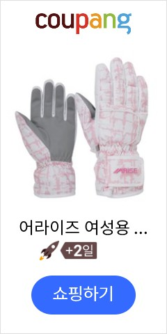 어라이즈 여성용 스키장갑 AWGA001, 핑크