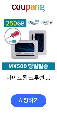 마이크론 크루셜 MX500 250GB SSD 아스크텍 정품 +사은품 증정