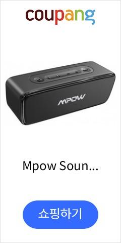 Mpow SoundHot R6 블루투스 스피커 베이스 시끄러운 스테레오 사운드 및 TWS 30H Playtime 휴대용 무선, 단일상품, 단일상품