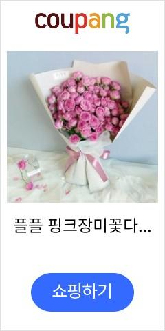 플플 핑크장미꽃다발...