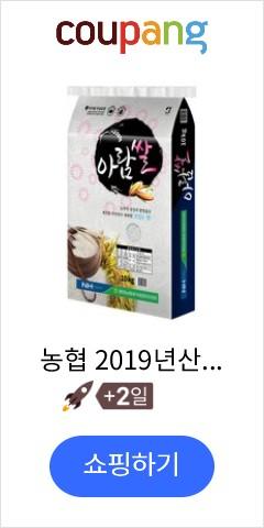 농협 2019년산 햅쌀 아람쌀 백미, 10kg, 1개