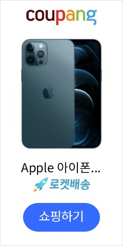 Apple 아이폰 12 Pro Max 자급제, 256GB, 퍼시픽 블루