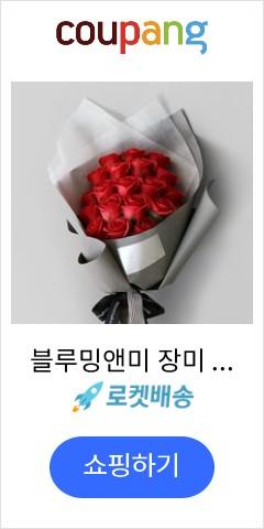 블루밍앤미 장미 20송이 비누꽃다발, 레드