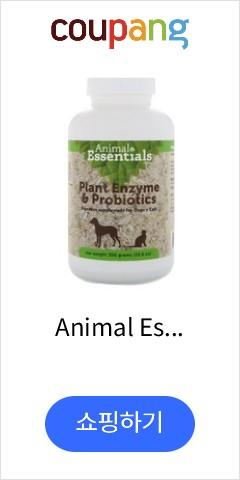 Animal Essentials 식물 효소 프로바이오틱스 반려견 반려묘 10.6 oz 300 g