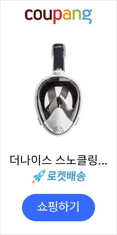 더나이스 스노클링 마스크 일반 SM, Black