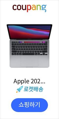 Apple 2020년 맥북 프로 13 (M1 칩셋 8코어 CPU 8코어 GPU), 스페이스 그레이, 256GB