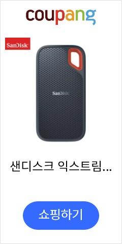 샌디스크 익스트림 포터블 휴대용 SSD E60, 1TB, SDSSDE60