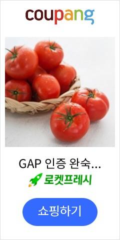 GAP 인증 완숙 토마토, 4kg, 1박스