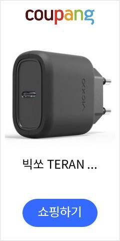 빅쏘 TERAN T3 USB PD C타입 가정용 고속 충전기 어댑터, 블랙, 1개