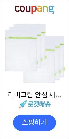 리버그린 안심 세탁망 40 x 50 cm 그린, 6개입, 1개