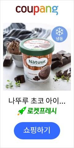 나뚜루 초코 아이스크림 (냉동), 474ml, 1개
