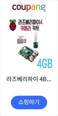 라즈베리파이 4B 카메라 키트(4GB&공식8M 카메라&32GB SD카드), 옵션없음