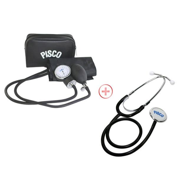 피스코(PISCO) 수동혈압계+단면청진기 아네로이드식 메타혈압계, 1box