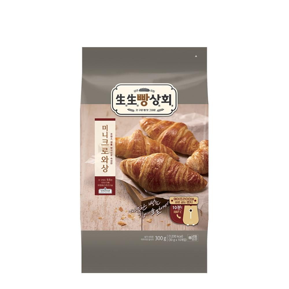 생생빵상회 미니 크로아상(10개입)300g X 2봉, 300g