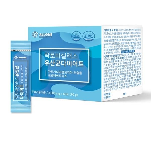 모유유래유산균 체지방감소 락토바실러스 루테리 유산균 다이어트 프로바이오틱스 프리바이오틱스 신바이오틱스 유익균먹이 유산균스틱, 60스틱, 3g