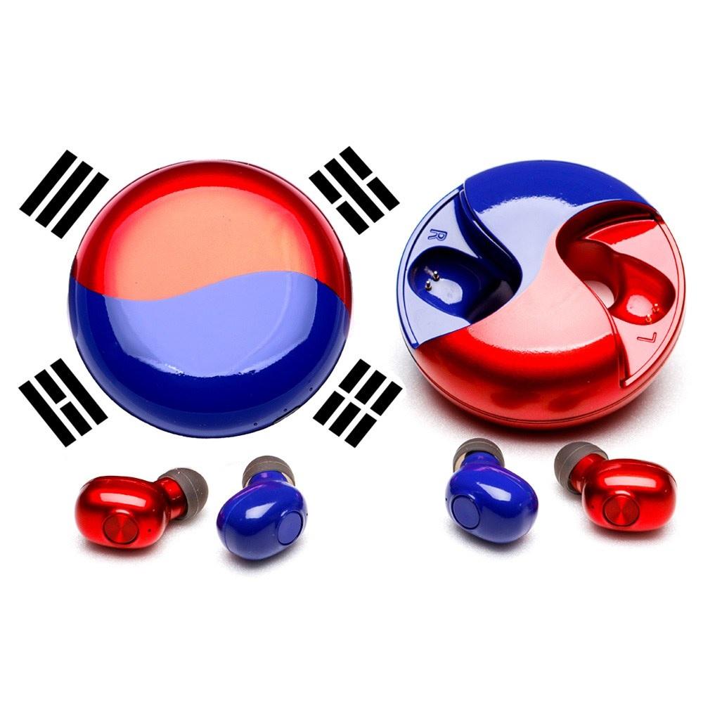 아이작 리미티드 코리아 에디션 5.0 블루투스 이어폰, FAE-7, UV LIGHT RED + BLUE