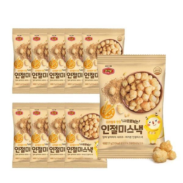 머거본 우리쌀로 만든 가족간식 인절미스낵37g x10봉, 선택/단일상품