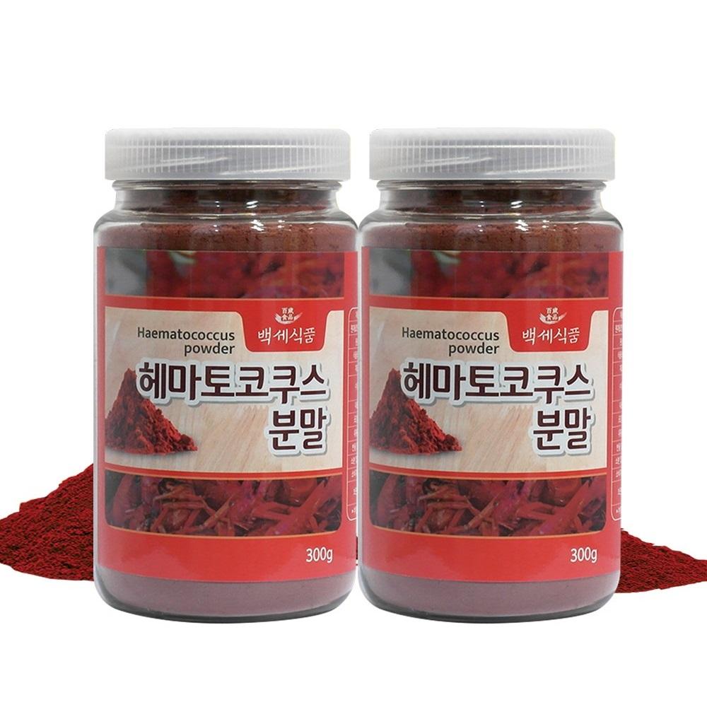헤마토코쿠스 눈영양제 분말 가루 300g 눈 건강 영양제 아스타잔틴 함유, 2개
