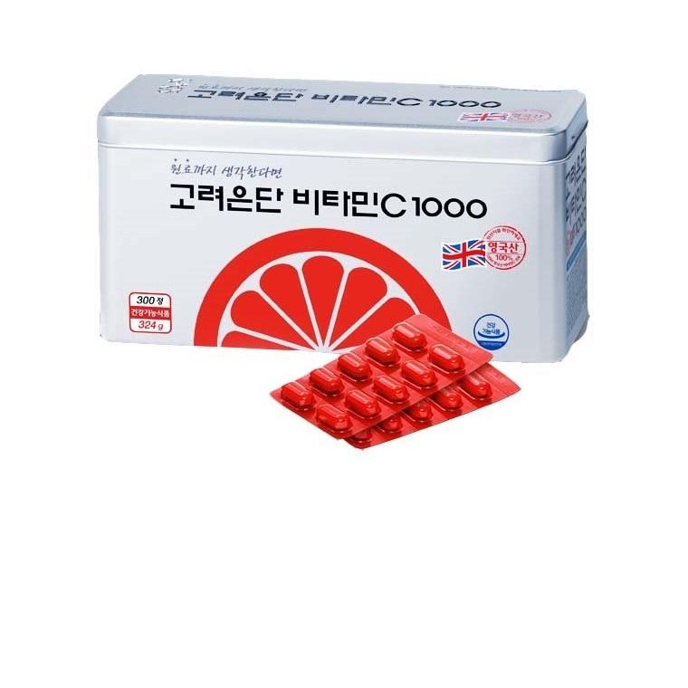 고려은단 비타민C 1000 mg 300정 영국산 원료100% 당일발송(출고), 1개