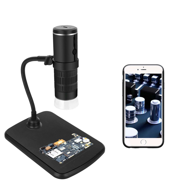 무선 와이파이 WIFI 디지털 현미경 1000배율 1920x1080P 해상도 지원, 1개