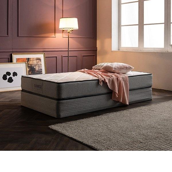 삼익가구 [삼익가구]노빌리티 투매트리스 침대(7존 독립스프링 매트SS), 그레이