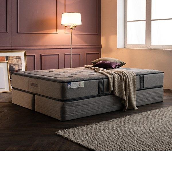 삼익가구 [삼익가구]노빌리티 투매트리스 침대(양모 라텍스 7존 독립스프링 매트Q), 그레이