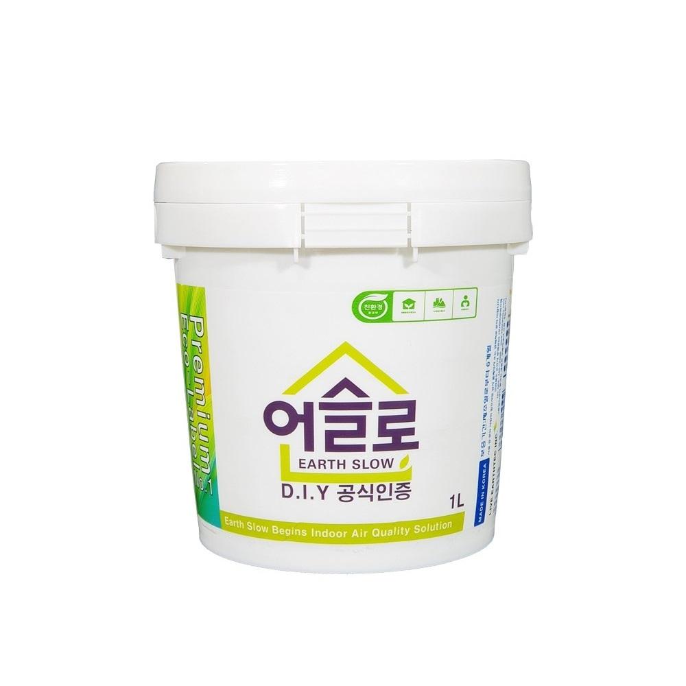 어슬로 1L 프리미엄 친환경페인트 벽지 가능 항균 항 곰팡이 유해물질 흡착 실내 공기질 개선 페인트, 황색
