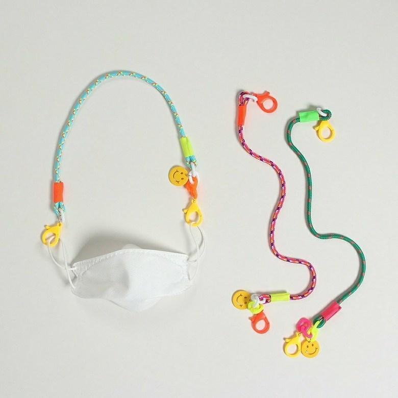 람이람이 [FREE]남매커플룩 마스크 목걸이 휴대용 선글라스 고리 여아 남아 아동 초등 인싸템