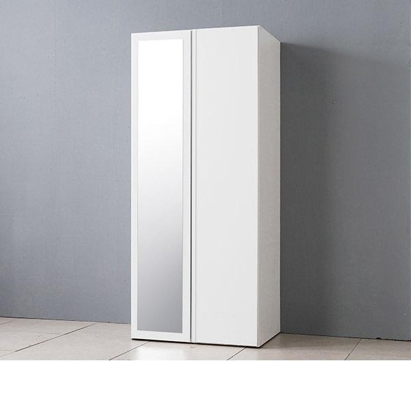 삼익가구 프린스 800 전신거울 옷장, 색상:화이트:옷장형
