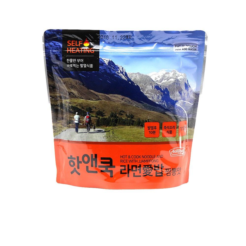 이지밥 핫앤쿡 HOT&COOK 라면애밥 (라면+밥)110g 찬물 즉시발열, 110g, 5개