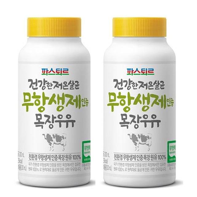 파스퇴르 무항생제 우유 200ml(돌아기우유), 14개, 200ml
