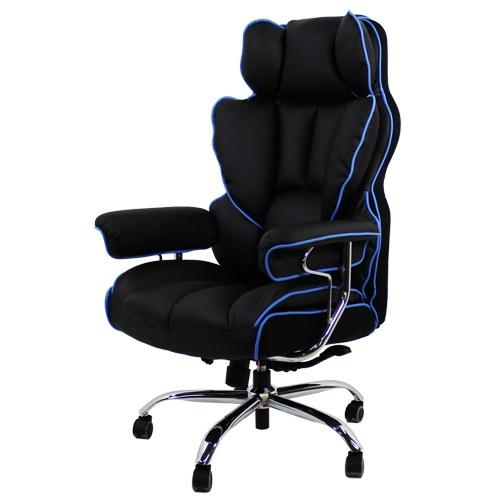 RM디자인 제네시스 게이밍 컴퓨터 pc방 의자, 블루포인트