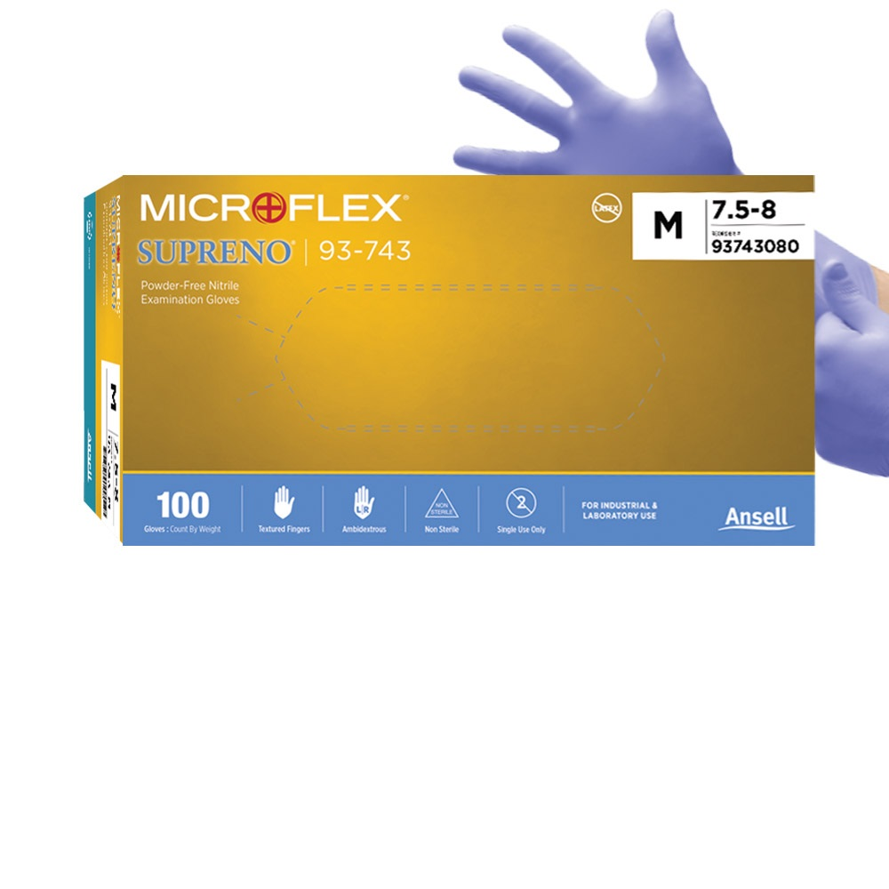 MICROFLEX SUPRENO 일회용 니트릴 장갑, 100매, 1팩