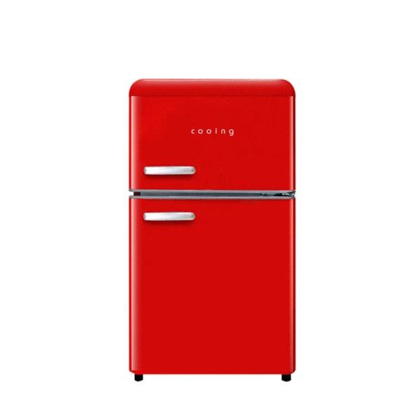 쿠잉 북유럽형 레트로 소형 미니 냉장고 REF-D85R 무료배송