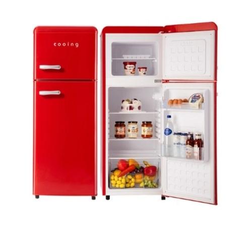 쿠잉 북유럽형 레트로 소형 미니 냉장고 REF-D121R 무료배송