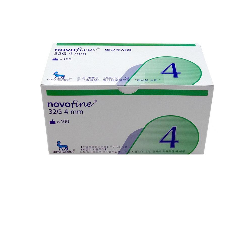 노보파인 인슐린 펜니들 4mm 주사침 주사바늘 100개입, 단일상품