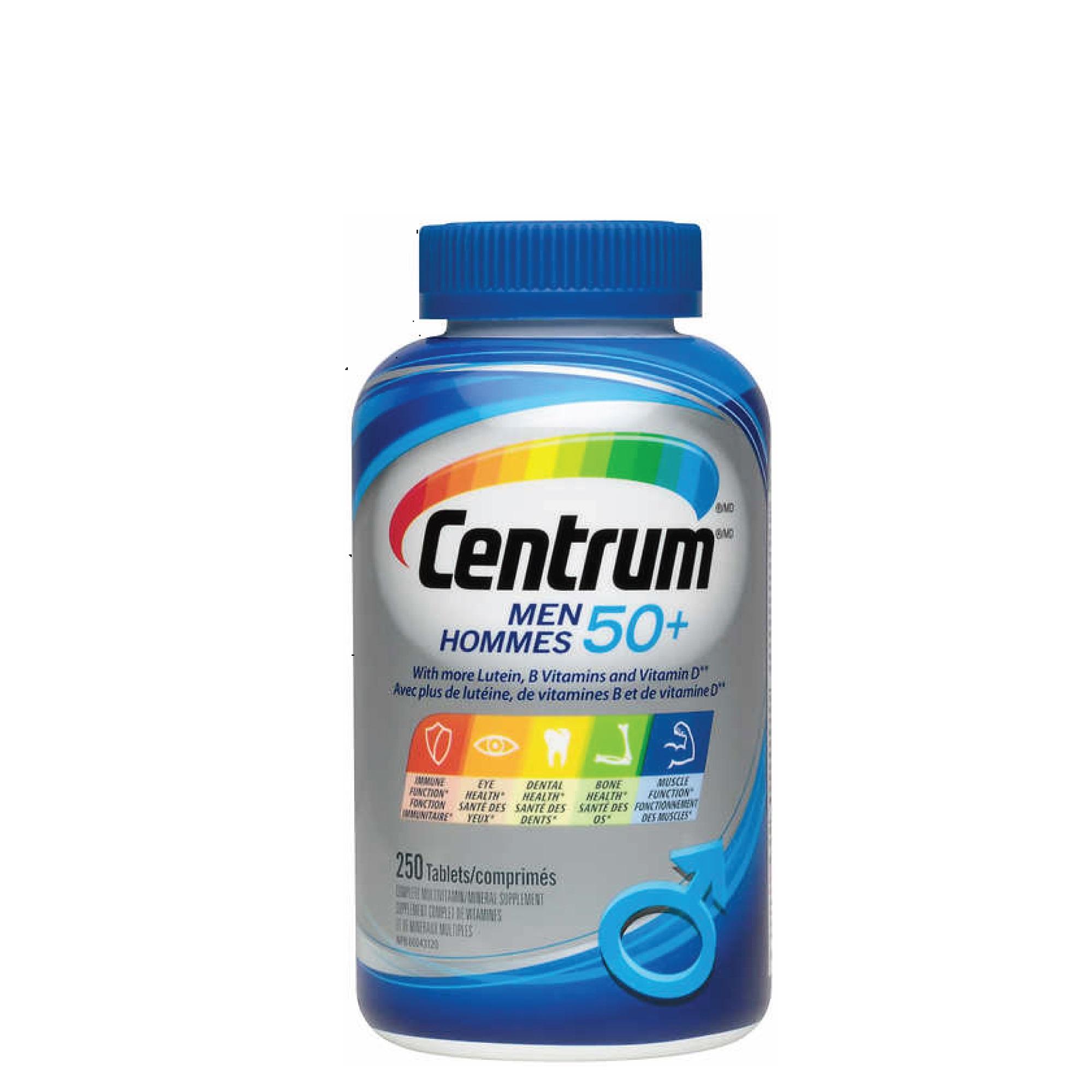 센트룸 50+실버 포맨 250정 멀티비타민+Super Vitamin C 1개 무료증정, 1병
