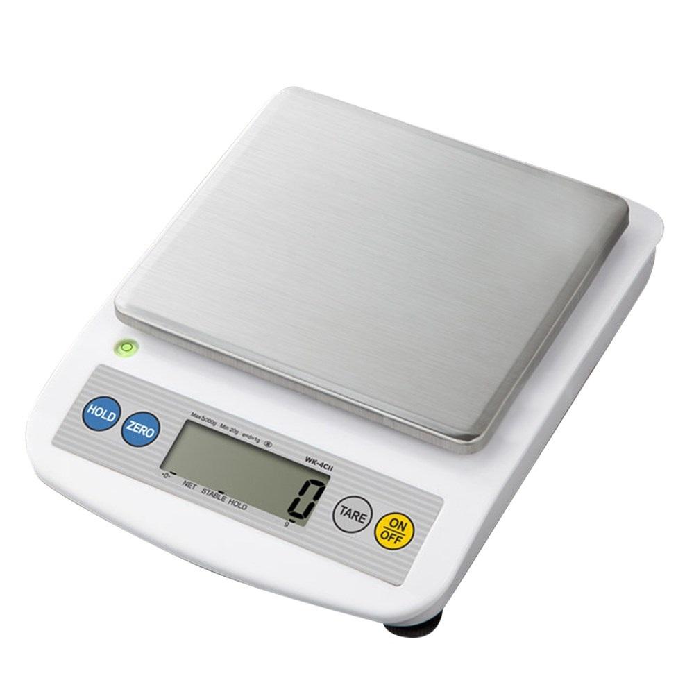 카스 디지털 전자저울 WK-4CII 최대5kg(1g단위) 주방저울, 단일색상
